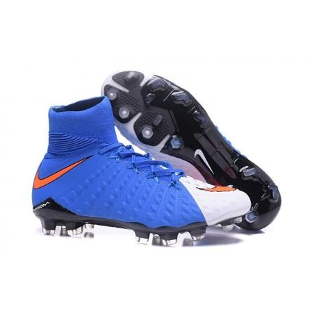Nike HyperVenom Phantom 3 DF FG Nouvelle 2017 Crampons Foot Bleu Blanc Rouge