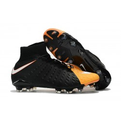Nike HyperVenom Phantom 3 DF FG Nouvelle 2017 Crampons Foot Noir Orange