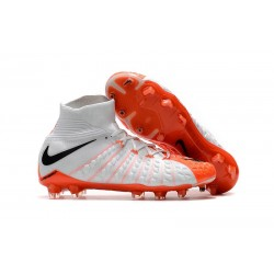 Nike HyperVenom Phantom 3 DF FG Nouvelle 2017 Crampons Foot Blanc Orange