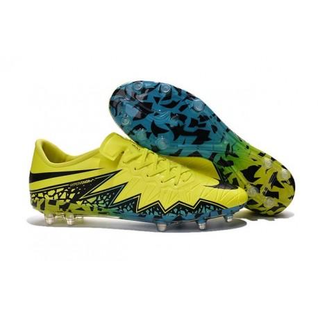 Chaussure a Crampon Nike Hypervenom Phinish FG Jaune Noir