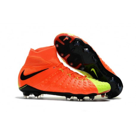Chaussures Nike HyperVenom Phantom III Dynamic Fit FG Orange Jaune