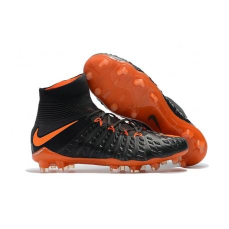 Chaussures Nike HyperVenom Phantom III Dynamic Fit FG Noir Orange