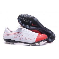 Chaussure a Crampon Wayne Rooney Nike Hypervenom Phinish FG Blanc Rouge