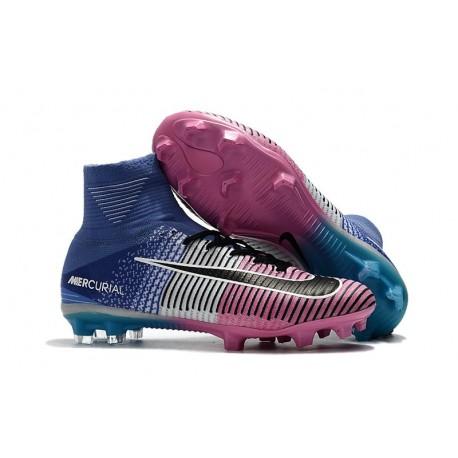 Nike Meilleur Chaussure Mercurial Superfly 5 FG - Bleu Rose Noir