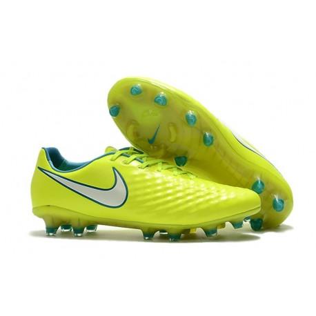 Nike Magista Opus FG ACC Chaussures de Football Jaune Blanc