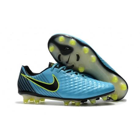 Nike Magista Opus FG ACC Chaussures de Football Bleu Noir