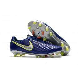 Nike Magista Opus FG ACC Chaussures de Football Bleu Argent