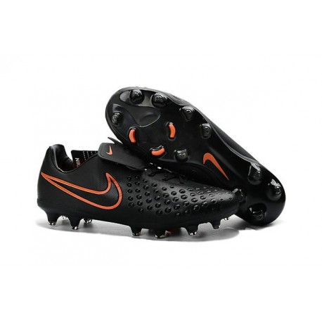 Nike Magista Opus FG ACC Chaussures de Football Noir Orange
