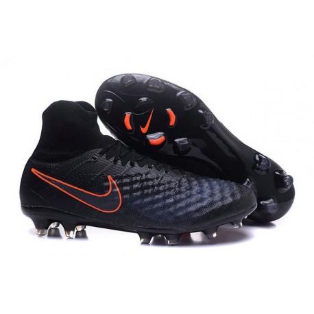 Chaussures football Nike Magista Obra II FG Noir Orange