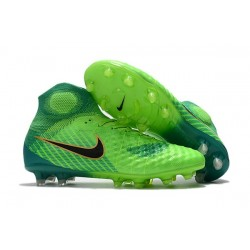 Nike Magista Obra II FG Nouveaux Chaussure de Foot - Vert Noir