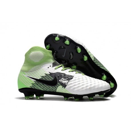 Nike Magista Obra II FG Nouveaux Chaussure de Foot - Blanc Vert Noir