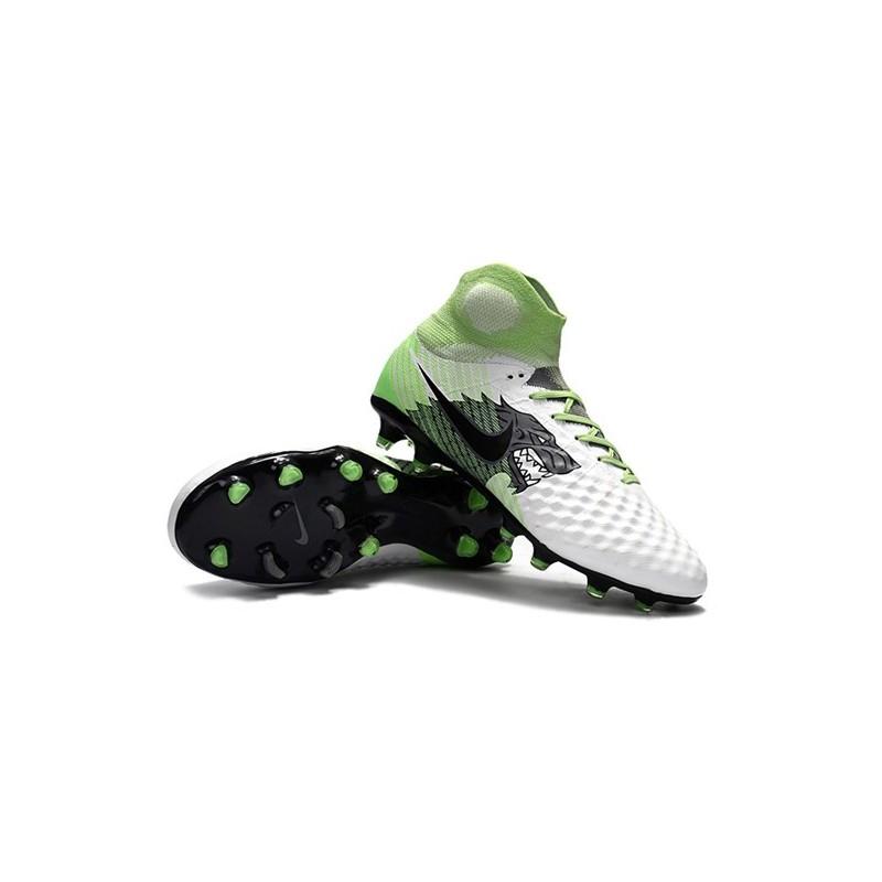 timeless design 0c982 7b90b Nike Magista Obra II FG Nouveaux Chaussure de Foot - Blanc Vert Noir Zoom.  Précédent. Suivant