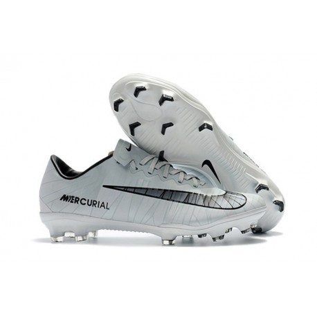 Nike Mercurial Vapor XI FG Cristiano Ronaldo Chaussures de Foot - Blanc Noir