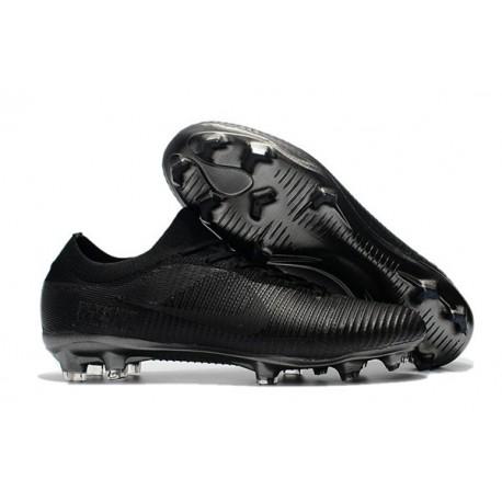 Crampons de Football Nike Mercurial Vapor Flyknit Ultra FG - Tout Noir