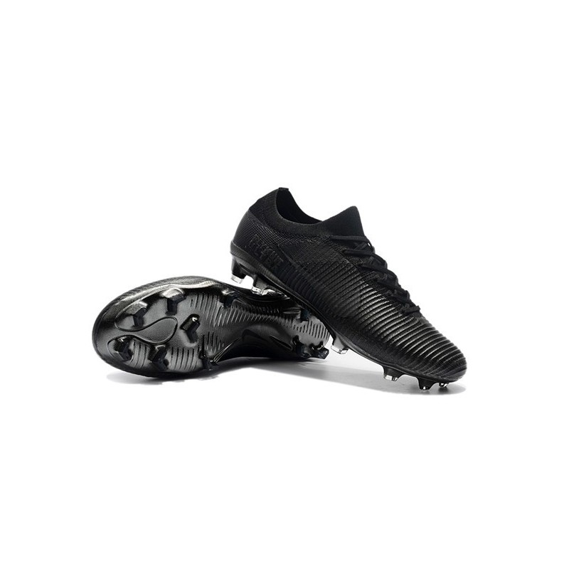 hot sales 879bf 51b49 ... reduced crampons de football nike mercurial vapor flyknit ultra fg tout  noir zoom. précédent.