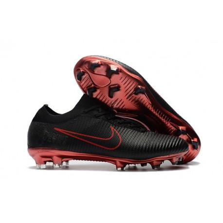 Crampons de Football Nike Mercurial Vapor Flyknit Ultra FG - Noir Rouge