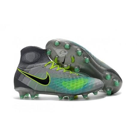 Chaussures football Nike Magista Obra II FG Gris Vert