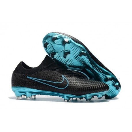 Crampons de Football Nike Mercurial Vapor Flyknit Ultra FG - Noir Bleu