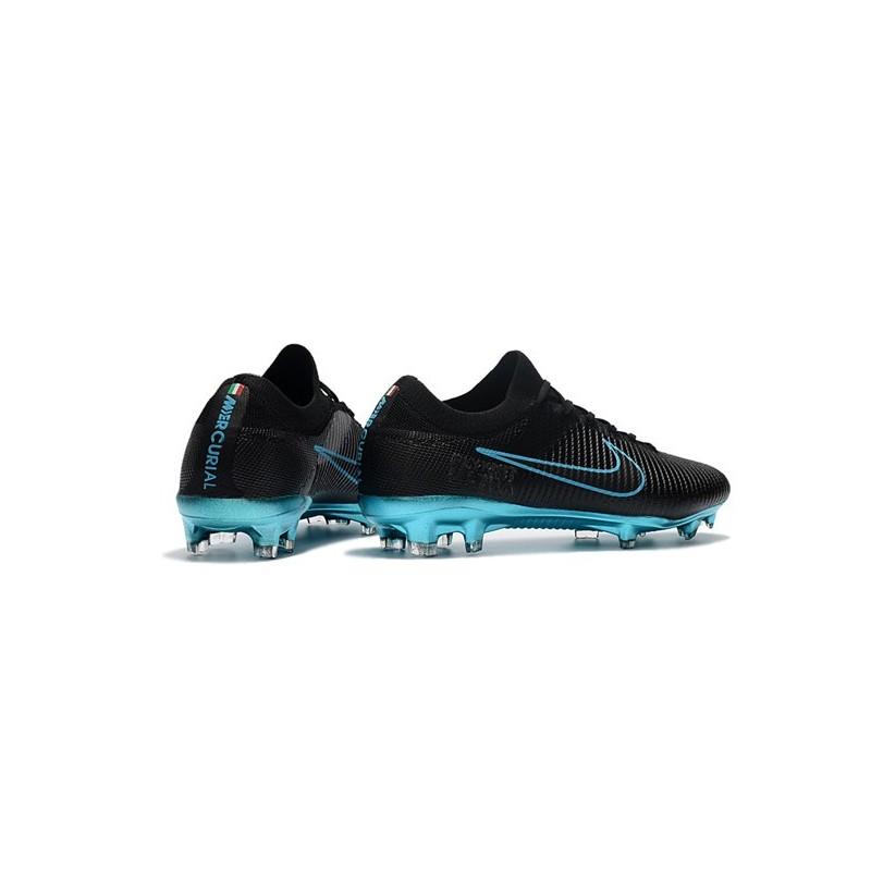 best loved 6405b 55cea Crampons de Football Nike Mercurial Vapor Flyknit Ultra FG - Noir Bleu  Zoom. Précédent. Suivant