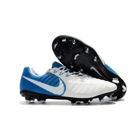 Chaussure Foot Nike Tiempo Legend 7 FG ACC - Blanc Bleu