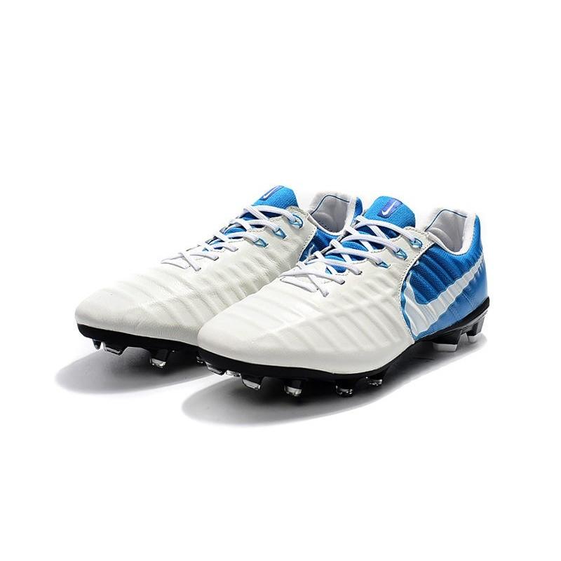 a6782925a Chaussure Foot Nike Tiempo Legend 7 FG ACC - Blanc Bleu Zoom. Précédent.  Suivant