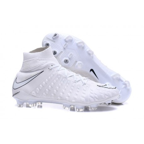 Chaussures Nike HyperVenom Phantom III Dynamic Fit FG Blanc