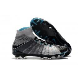 Nike Crampons de Foot HyperVenom Phantom 3 DF FG - Noir Gris