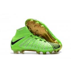 Nike Crampons de Foot HyperVenom Phantom 3 DF FG - Vert Noir