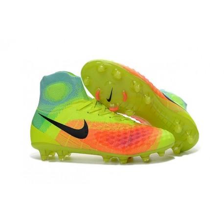 Chaussures football Nike Magista Obra II FG Jaune Orange