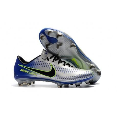 Crampons Football Nouvelles Nike Mercurial Vapor XI FG Argent Noir