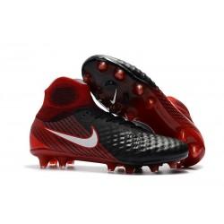 Nike Magista Obra II FG Nouveaux Chaussure de Foot - Noir Rouge