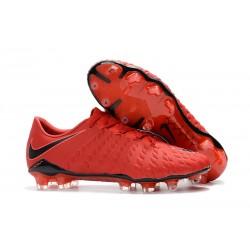 Nike Chaussure Homme Hypervenom Phantom 3 FG - Rouge Noir