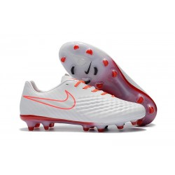 Nike Magista Opus FG ACC Chaussures de Football Blanc Orange