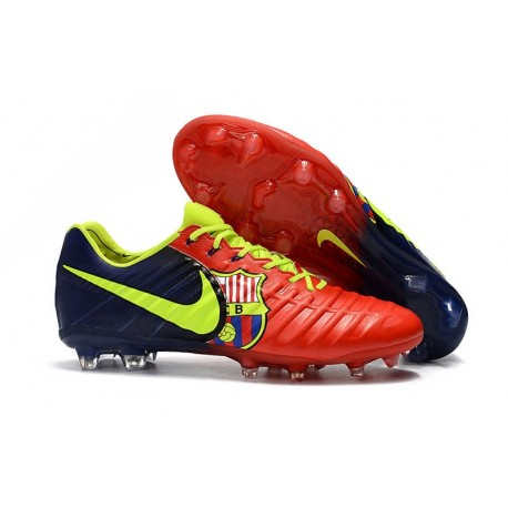 Chaussure Foot Nike Tiempo Legend 7 FG ACC - Barcelona Rouge