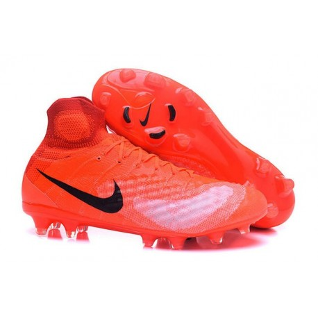 Chaussures football Nike Magista Obra II FG Orange Noir