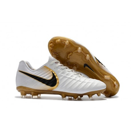 Chaussure Foot Nike Tiempo Legend 7 FG ACC - Blanc Or