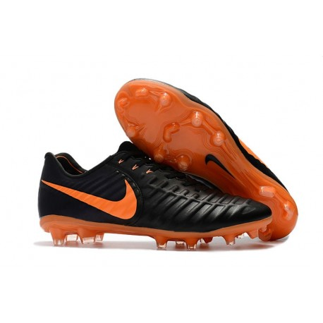 Chaussure Foot Nike Tiempo Legend 7 FG ACC - Noir Orange