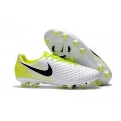 Crampons de Foot Nouvel Nike Magista Opus 2 FG - Blanc Noir Jaune