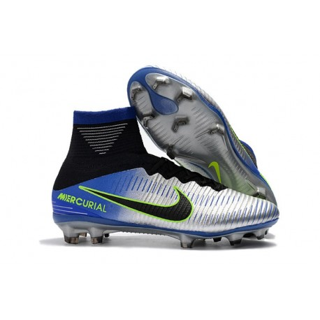 Nike Mercurial Superfly V Dynamic Fit FG Neymar Chaussure - Chrome