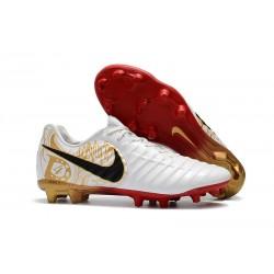 Chaussure Foot Nike Tiempo Legend 7 FG ACC - Blanc Noir Rouge