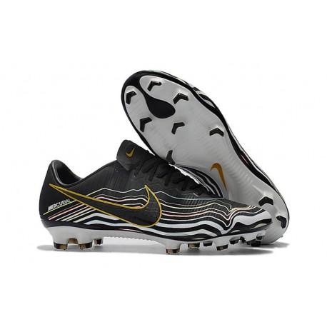 Crampons Football Nouvelles Nike Mercurial Vapor XI FG Noir Or