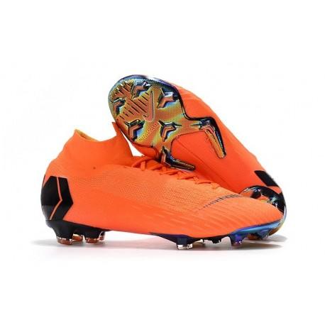 Nike Mercurial Superfly VI FG Crampons de Football - Orange Noir