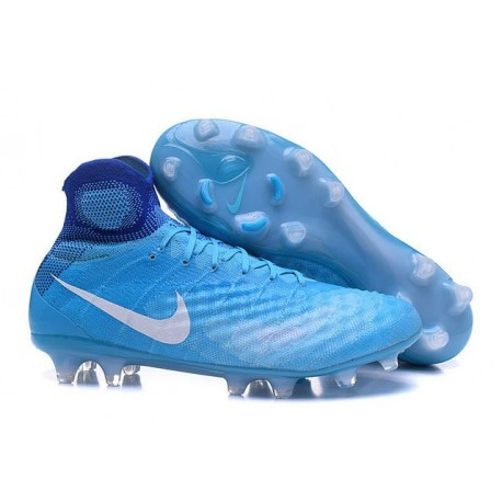 Chaussures football Nike Magista Obra II FG Bleu