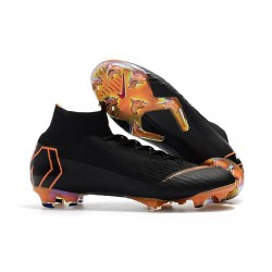 Nike Mercurial Superfly VI FG Crampons de Football - Noir Orange