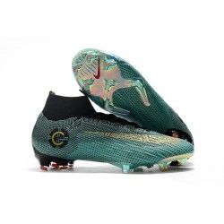 Ronaldo Nike Mercurial Superfly VI FG Crampons de Football - Bleu Noir Or