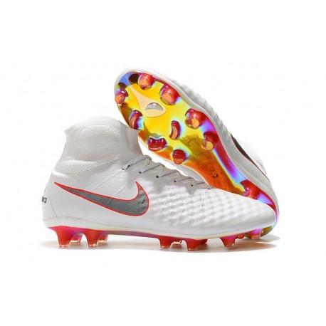 Nike Magista Obra II FG Nouveaux Chaussure de Foot - Blanc Rouge