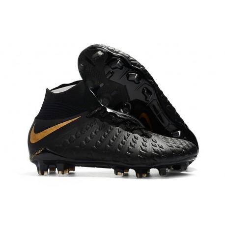 Nike Crampons de Foot HyperVenom Phantom 3 DF FG - Noir Or