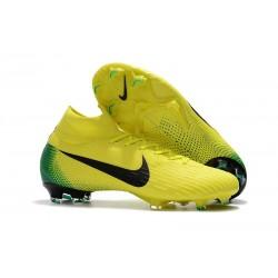 Nike Mercurial Superfly VI FG Crampons de Football - Jaune Noir