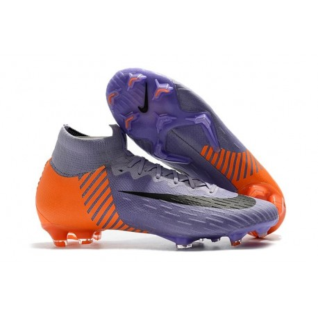 Nike Mercurial Superfly VI FG Crampons de Football - Violet Orange