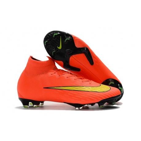 Nike Mercurial Superfly VI FG Crampons de Football - Orange Jaune
